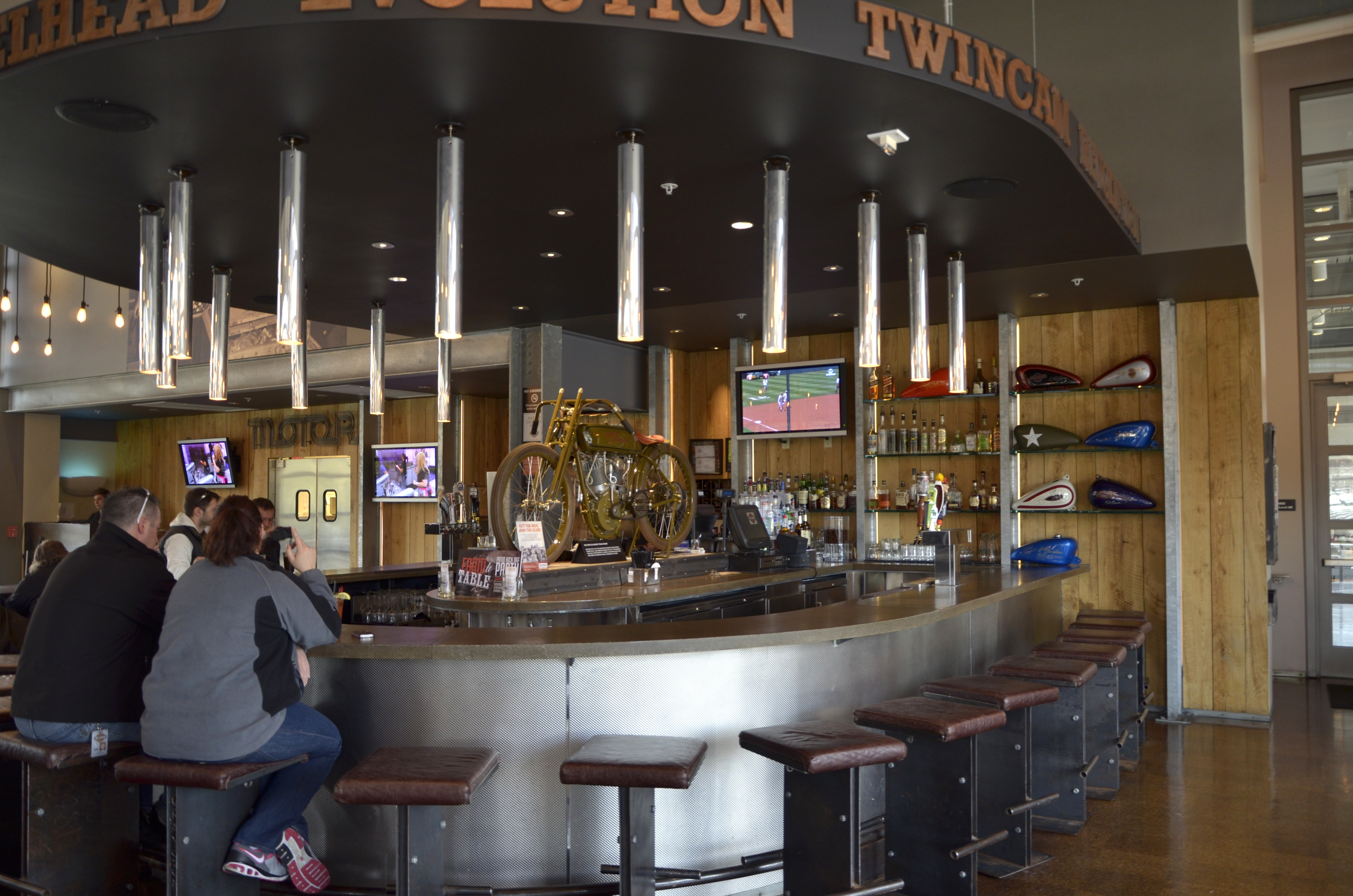 motor bar restaurant a harley davidson moto foodie