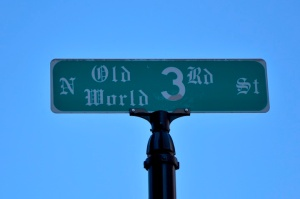 N Old World 3rd St sign-72