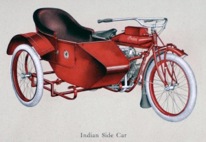 The Princess sidecar was introduced for the 1914 model year.