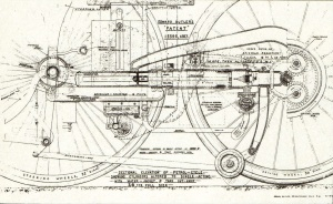 Butler's Petrol Cycle patent drawing