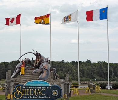 World's largest lobster in Shediac.