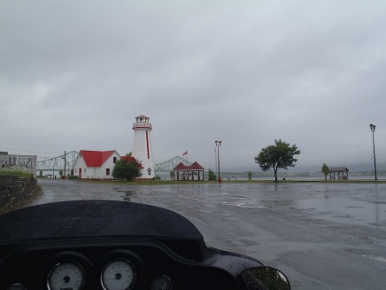 Entering Campbellton in the rain