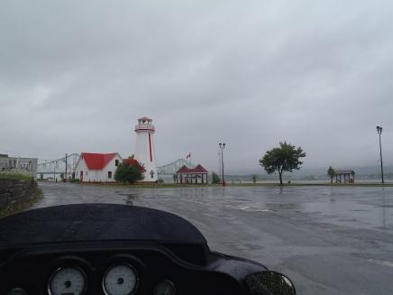 Entering Campbellton in the rain