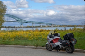 LaViolette Bridge crossing the St. Lawrence River to Trois-Rivieres