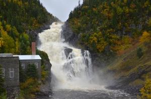 236-foot Ouiatchouan Falls in Val-Jalbert