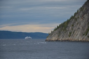 The Saguenay Fjord from the dock at Ste.-Rose-du-Nord