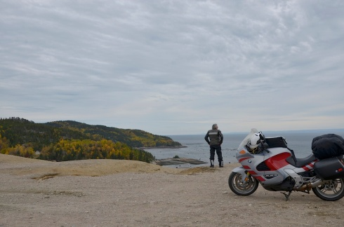 At the dunes and overlooking the St. Lawrence River