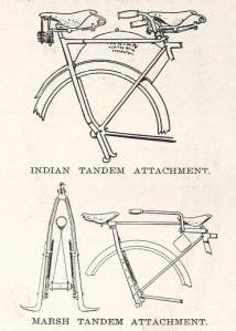 Several motorcycle companies offered tandem attachments.